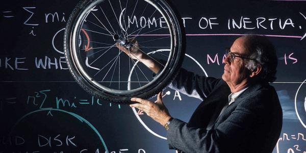 Professor with wheel