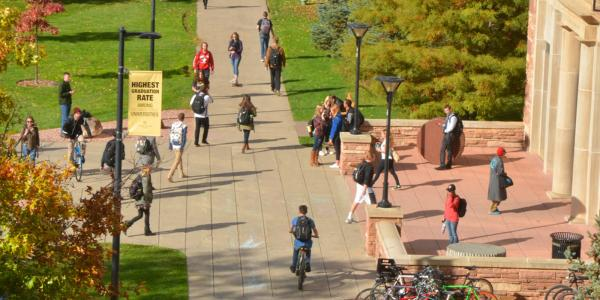 Students walking on Norlin Quad