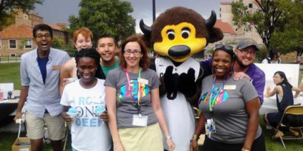 Staff and Volunteers welcome students to the Annual Welcome Back Picnic