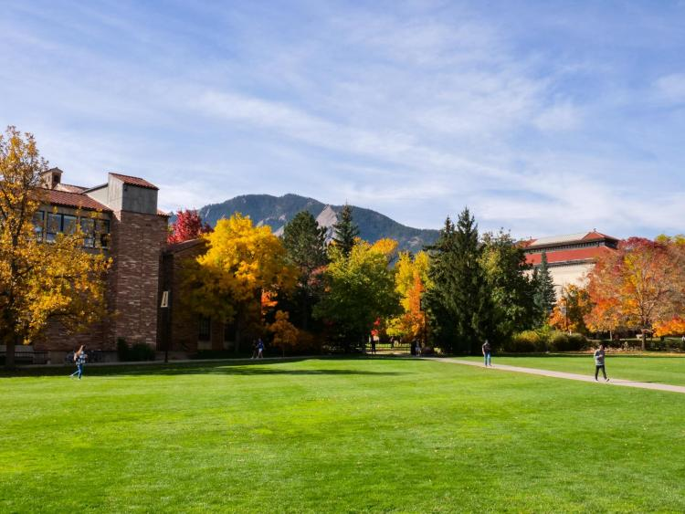 CU Boulder in the Autumn