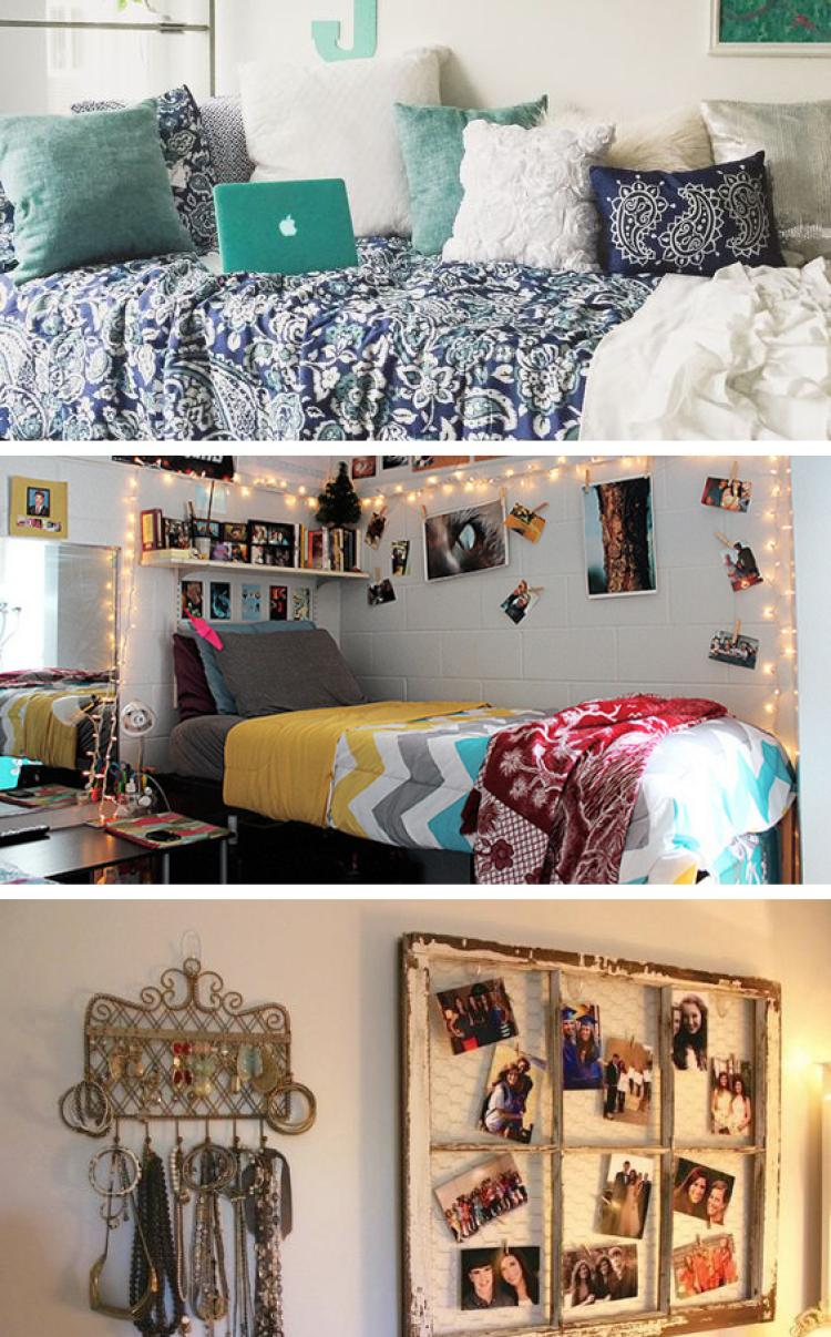 Dorm room with decorations