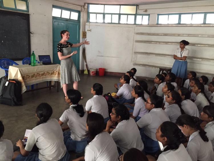 CU Boulder high school visit in India
