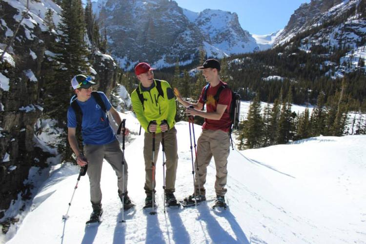 Jack and his friends skiing