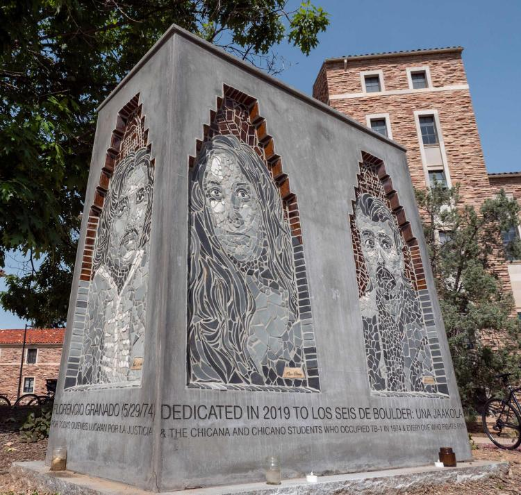 Los Seis Memorial on campus