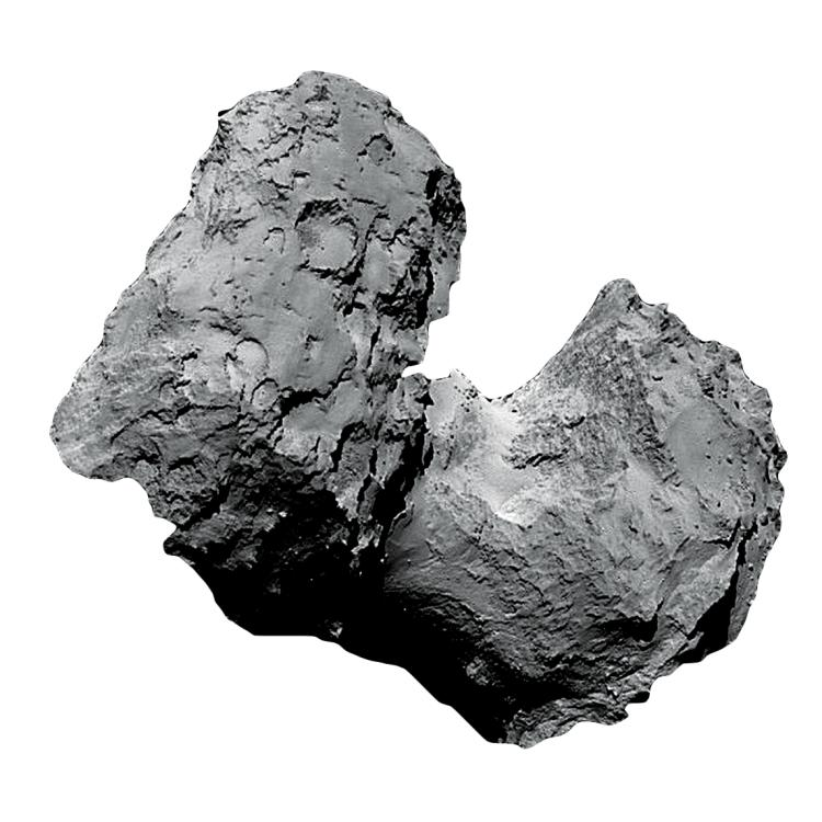 Closeup of a comet