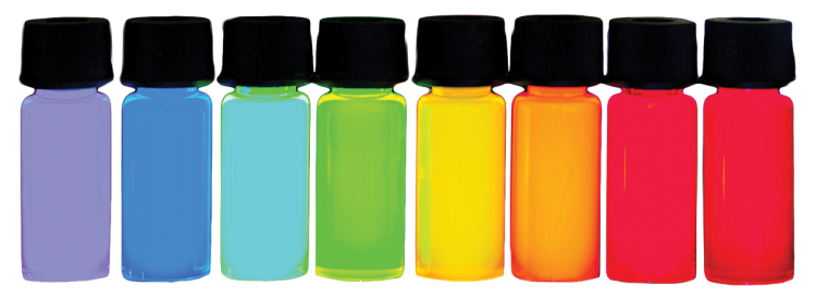 Colorful vials