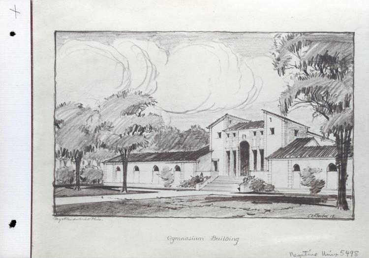 1918 sketch of CU Gymnasium Building