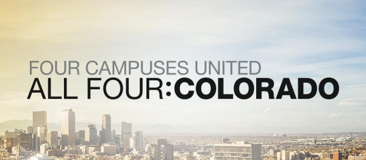 Four campuses united: All four Colorado