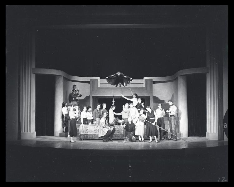 Macbeth performance, 1958. Image from the Special Collections and Archives, University of Colorado Boulder Libraries.
