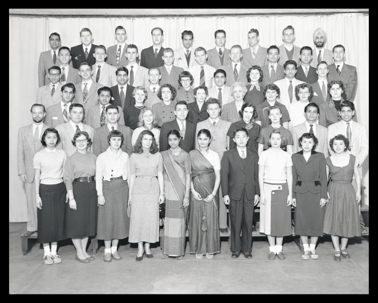 Members of the Cosmo Club, 1950s. Image from the Special Collections and Archives, University of Colorado Boulder Libraries.