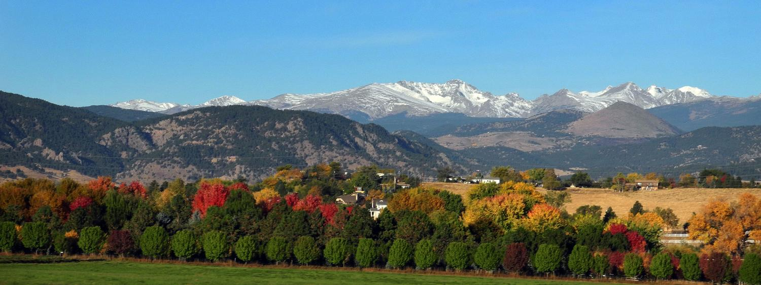 Scenic view of mountains in fall