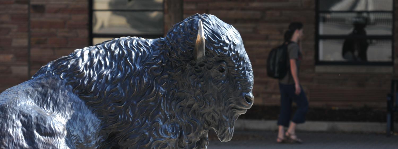 Buff sculpture on CU campus
