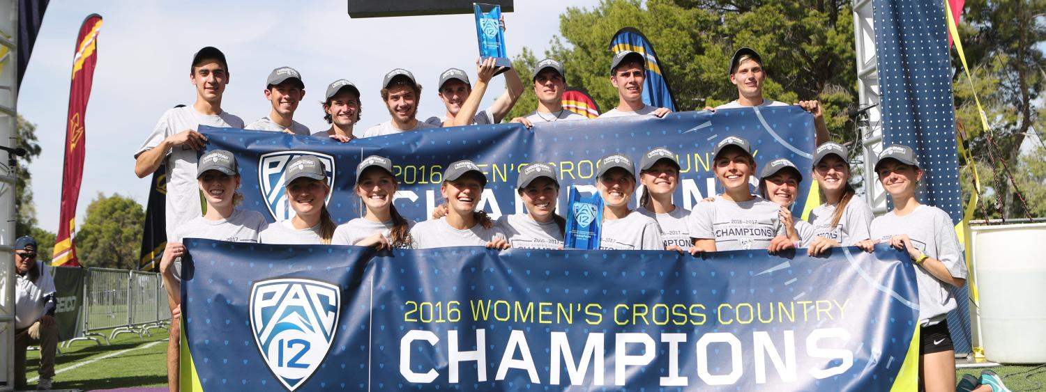 Colorado men and women cross country teams celebrate victory