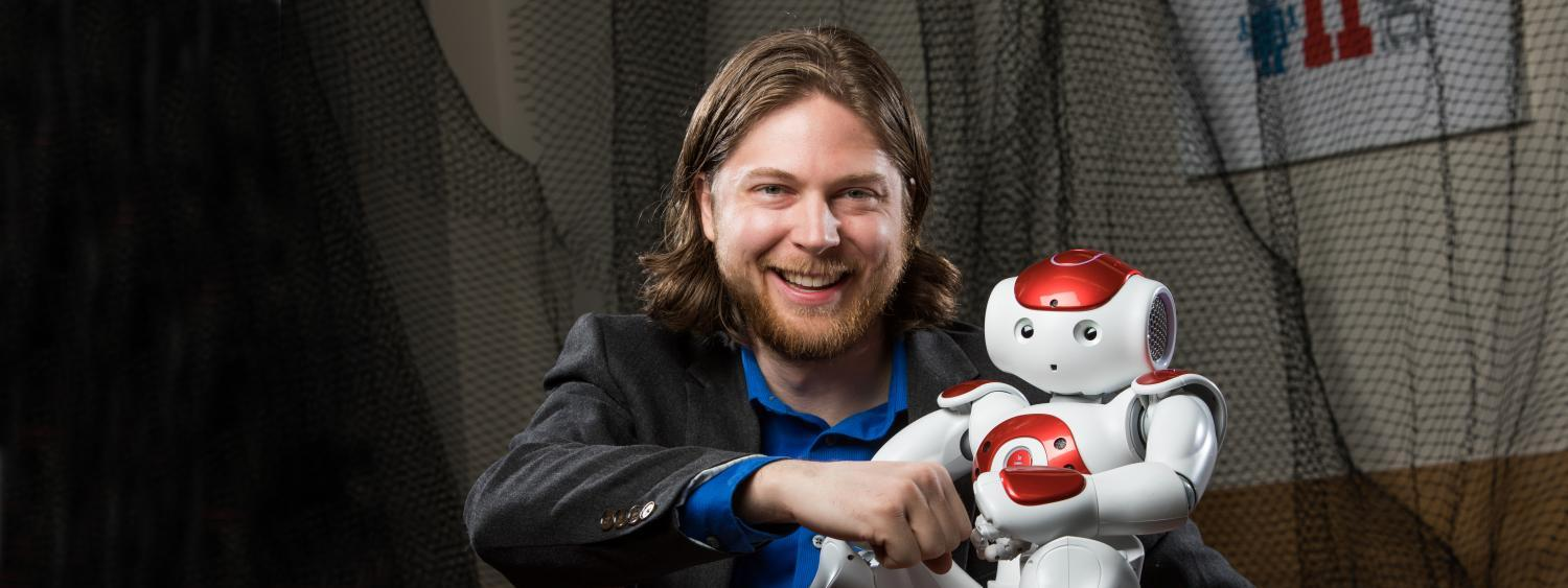Computer scientist and professor Dan Szafir with robot