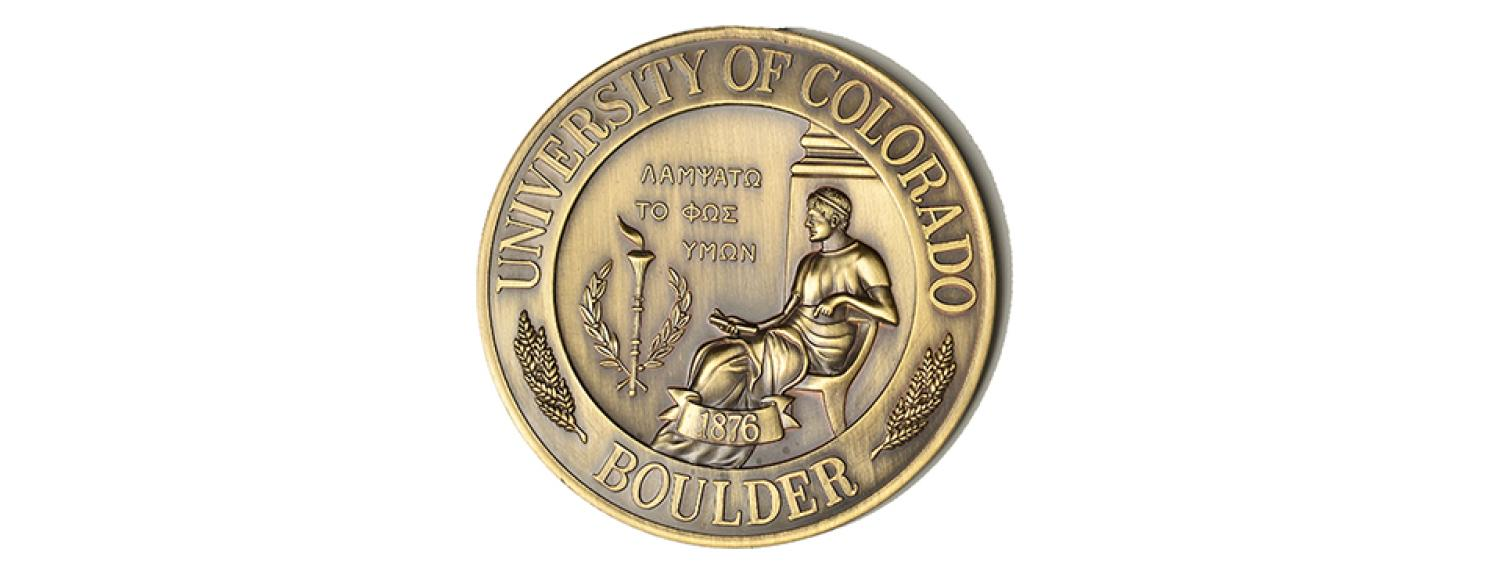 The faculty medal represents the university seal, cast in bronze