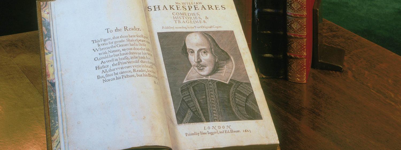 First Folio display