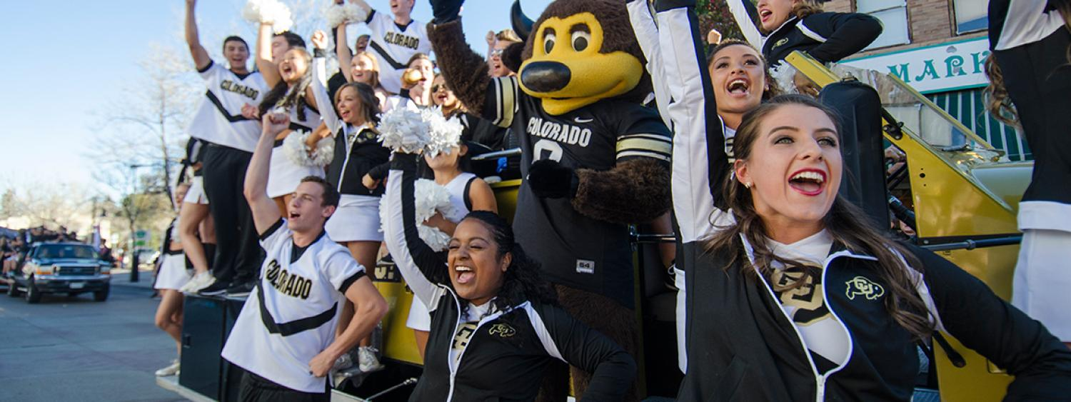 CU-Boulder students at homecoming