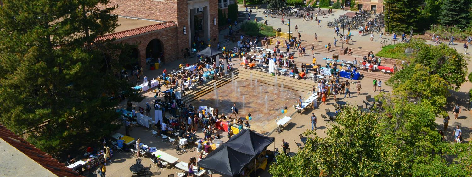 The Be Involved Fair at the UMC Courtyard