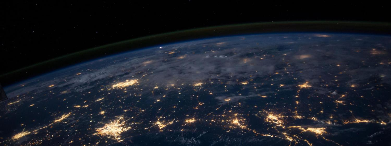 View of earth from space. Image courtesy of NASA.