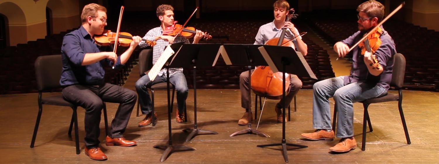 Altius Quartet performs at Macky Auditorium