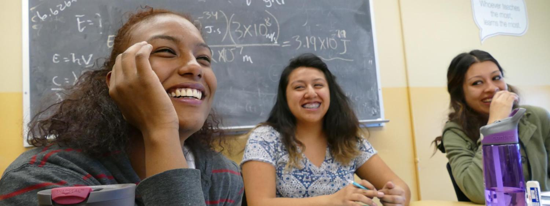 Students study at the SASC math program