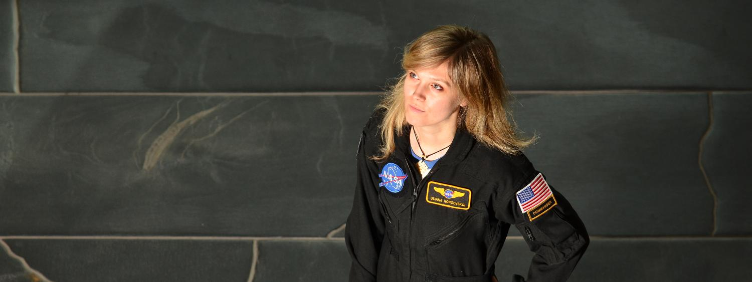 Ulyana Horodyskyj in her NASA uniform