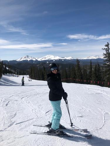 Lucia alpine skiing in Colorado