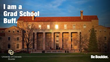 "Norlin Library with ""I am a Grad School Buff"""
