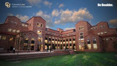 Entrance of Wolf Law School building