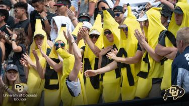 Buffs fans dressed as bananas