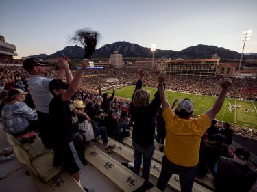 Fans at CU vs AZ football game