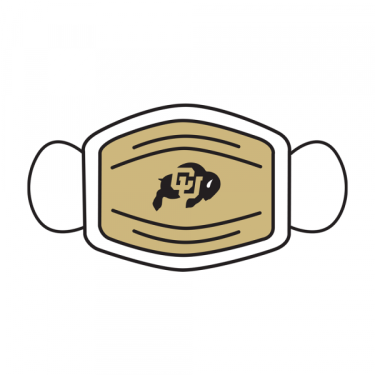 A mask with the CU logo