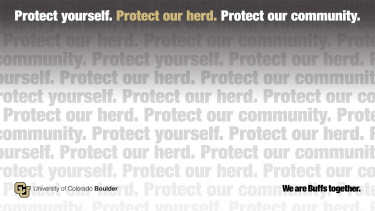 Light Zoom background that reads Protect yourself. Protect our herd. Protect our community.