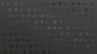 Nike logo, Pac 12 logo, Ralphie logo on repeat in all black