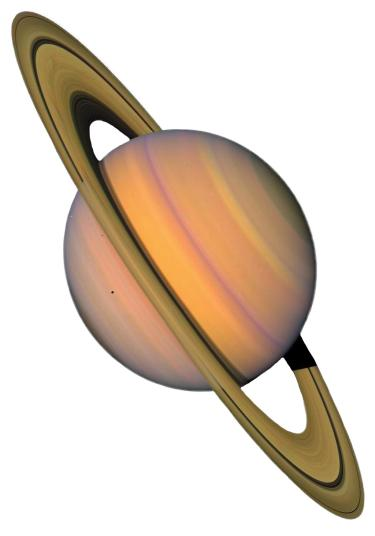 An artist's concept of Saturn. (NASA)