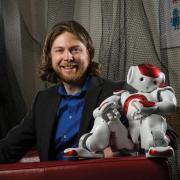Dan Szafir with robot