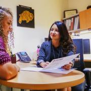 Vanessa advising a student