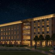 Aerospace building rendering