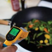 Sensors monitoring indoor air quality from cooking