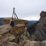 Students mapping at Chimney Rock National Monument