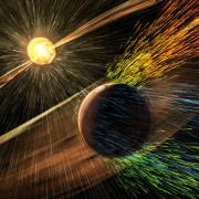 Mars solar storm