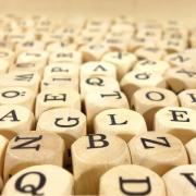 Wooden letter cubes
