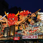 Inspiration for the lantern comes; enormous lantern floats from the Aomori Nebuta Festival.