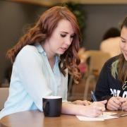 An academic advisor helping a student