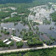 Houston flooding aerial