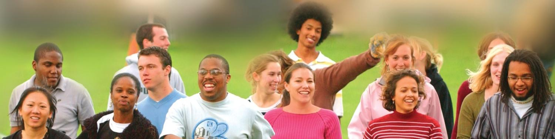 Diverse Students walking together