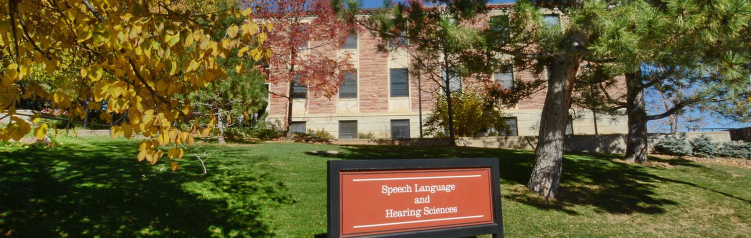 Speech, Language, and Hearing Sciences building on the CU Boulder campus