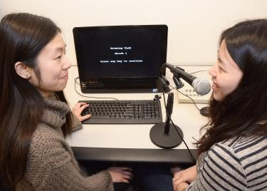 Students training in Speech Pathology