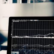 Computer screeen representing data analytics