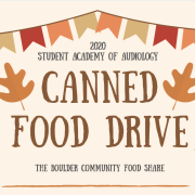 Student Academy of Audiology Can Food drive